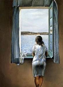 Moça na Janela - Salvador Dalí